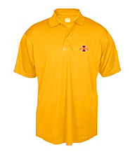 J. America® Men's Gold Iowa State Solid Performance Polo