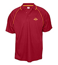 J. America® Men's Cardinal Iowa State Contrast Mesh Performance Polo