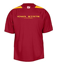 J. America® Men's Cardinal Iowa State Mesh Performance Tee with Sleeve Panels