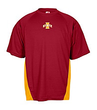 J. America® Men's Cardinal Iowa State Mesh Performance Panel Tee