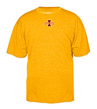 J. America® Men's Gold Iowa State Heathered Performance Tee