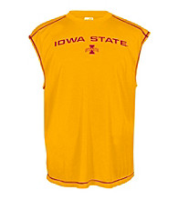 J. America® Men's Gold Sleeveless Iowa State Mesh Performance Tee