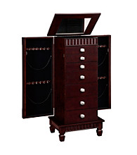 Powell® Contemporary Merlot Jewelry Armoire