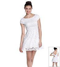 Bee Darlin' Juniors' Lace Skater Dress