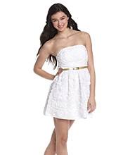 Bee Darlin' Juniors' White Strapless Soutache Dress