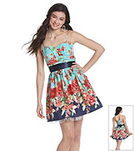 Bee Darlin' Juniors' Empire Waist Floral Print Party Dress