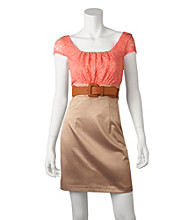 A. Byer Juniors' Belted Lace Dress