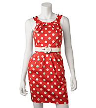 A. Byer Juniors' Polka Dot Sheath Dress
