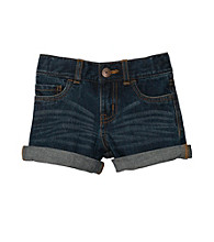 OshKosh B'Gosh® Girls' 4-6X Denim Cuffed Shorts