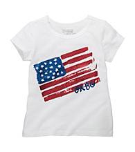 OshKosh B'Gosh® Girls' 4-6X White Flag Tee