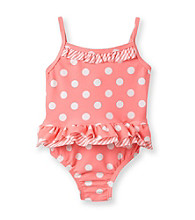 Carter's® Baby Girls' Orange Polka-Dot Swimsuit