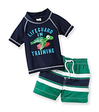 Carter's® Baby Boys' Navy 2-pc. Turtle Rashguard Swim Set