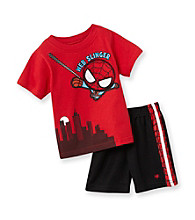 Nannette® Baby Boys' Red 2-pc. Spiderman Tee And Shorts Set