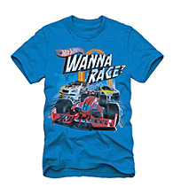 Hot Wheels® Boys' 4-7 Blue Short Sleeve