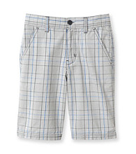 Calvin Klein Jeans® Boys' 8-20 Grey Plaid Cargo Shorts