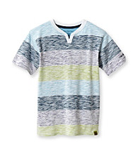 Calvin Klein Jeans® Boys' 8-20 White Short Sleeve Stripe Tee
