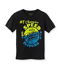 Calvin Klein Jeans® Boys' 8-20 Black Short Sleeve Speed Motors Tee