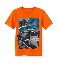 Calvin Klein Jeans® Boys' 8-20 Orange Short Sleeve Music Tee