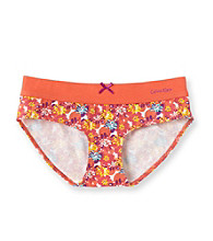 Calvin Klein Girls' 6-16 Pink/Orange Flower Hipster Panties