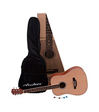 Archer AD10 Natural 6-String Acoustic Guitar Pack with Gig Bag & Picks