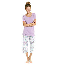 KN Karen Neuburger Knit Combo Pajama Set - Purple Floral