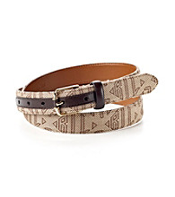Lauren Ralph Lauren Khaki Sign Belt