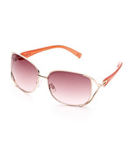 Jessica Simpson Rose Goldtone Square Metal Vent Glam Sunglasses