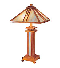 Dale Tiffany Wood Mission Table Lamp