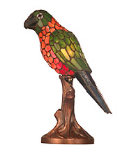 Dale Tiffany Orange And Yellow Parrot Accent Desk Lamp