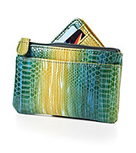 Relativity® Card, Key & Coin Wallet - Green Ombre