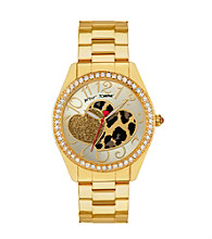 Betsey Johnson® Leopard Heart Dial Watch
