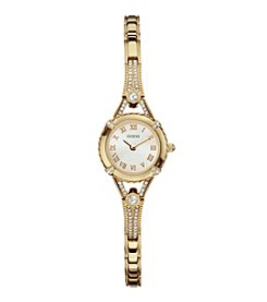 GUESS Goldtone Petite Glamour Embellishment Watch