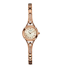 Guess Rose Goldtone Petite Glamour Embellishment Watch
