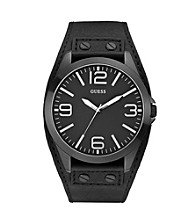 Guess Black Masculine Tapered Cuff Trend Watch