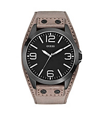 Guess Black/Grey Masculine Tapered Cuff Trend Watch
