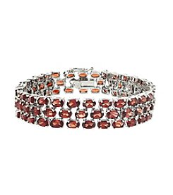 Designs by FMC Garnet Gemstone Three Row Bracelet 23 ct. t.w.