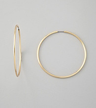 Guess Polished Goldtone Large Hoop Earrings