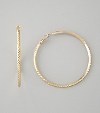 Guess Polished Goldtone Hoop Earrings