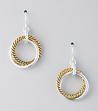 Lauren Ralph Lauren Two Tone Earrings