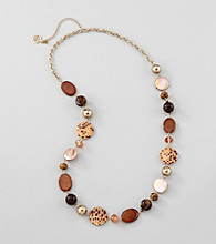 Erica Lyons® Brown Multi Sahara Beaded Long Necklace