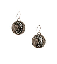 Lucky Brand® Silvertone Novelty Earrings