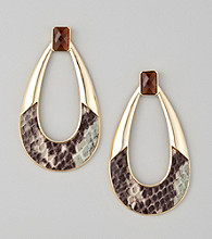 Guess Goldtone Oval Earrings