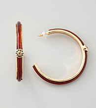 Guess Goldtone Hoop Earrings