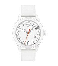 ESQ Movado® One™ White Silicone Wrapped Stainless Steel Watch