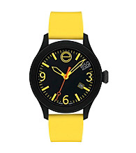 ESQ Movado® One™ Yellow/Black Silicone Wrapped Stainless Steel Watch