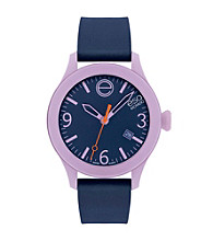 ESQ Movado® One™ Navy Blue/Lilac Silicone Wrapped Stainless Steel Watch