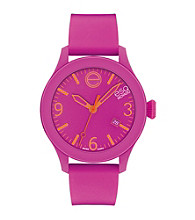 ESQ Movado® One™ Fuchsia Silicone Wrapped Stainless Steel Watch
