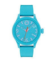 ESQ Movado® One™ Turquoise Silicone Wrapped Stainless Steel Watch