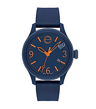 ESQ Movado® One™ Navy Silicone Wrapped Stainless Steel Watch