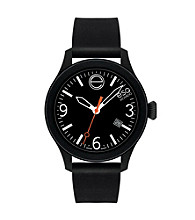 ESQ Movado® One™ Black Silicone Wrapped Stainless Steel Watch